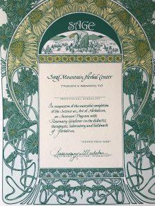 Ginkgo Tree Certificate